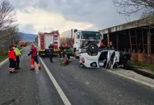 Grav accident, impact frontal 2 morti si un ranit!